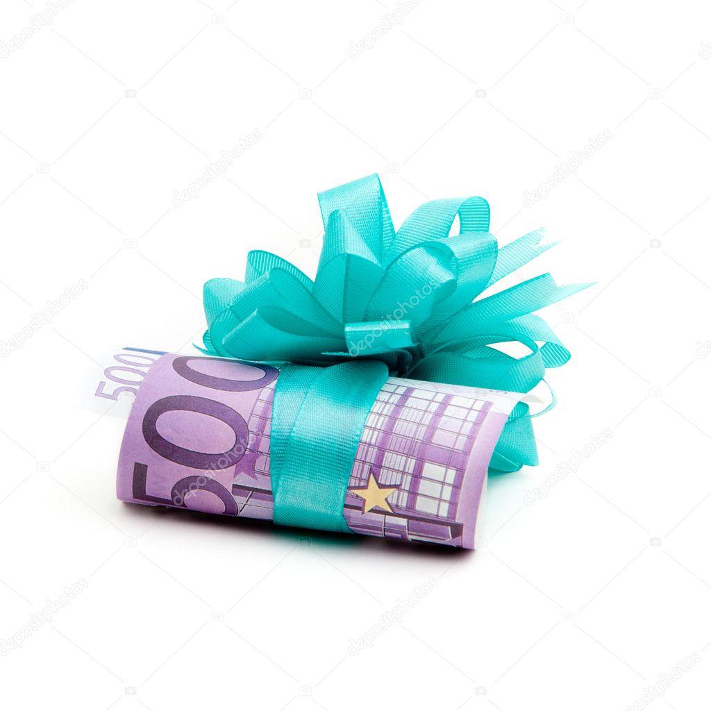 500 euro geld geschenk stockfoto ewastudio 7288642. Black Bedroom Furniture Sets. Home Design Ideas