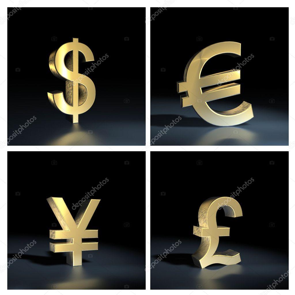 Different Currency Symbols Stock Photo Ewastudio 7361442