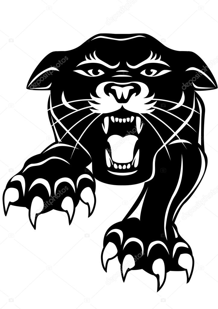 Black panther — Stock Vector © dagadu #7685430