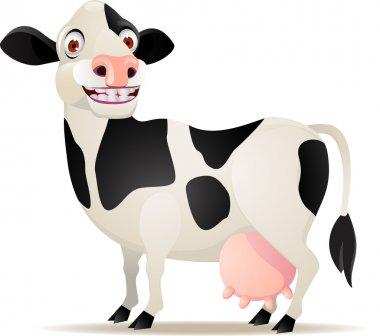 Smiling cow cartoon