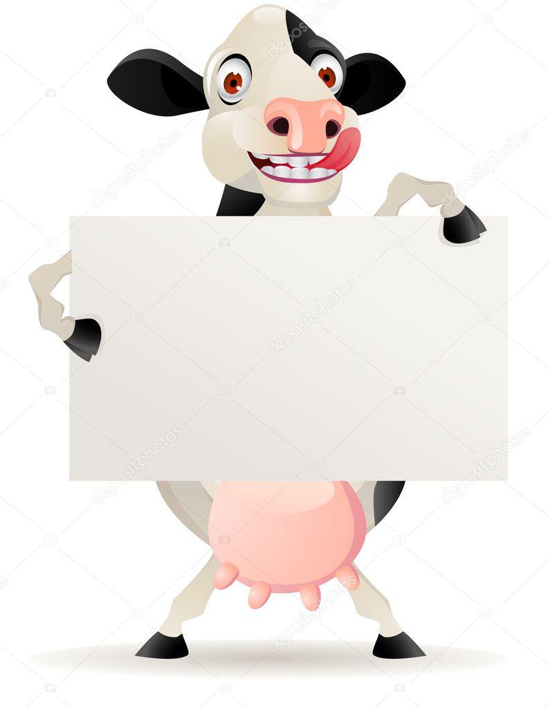 funny cow cartoon with blank sign stock vector  u00a9 dagadu Cow Clip Art Cow Clip Art