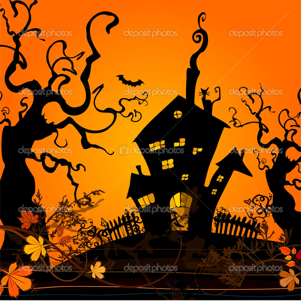 Cute Halloween illustrated background