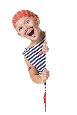 Kid wearing in pirate costume