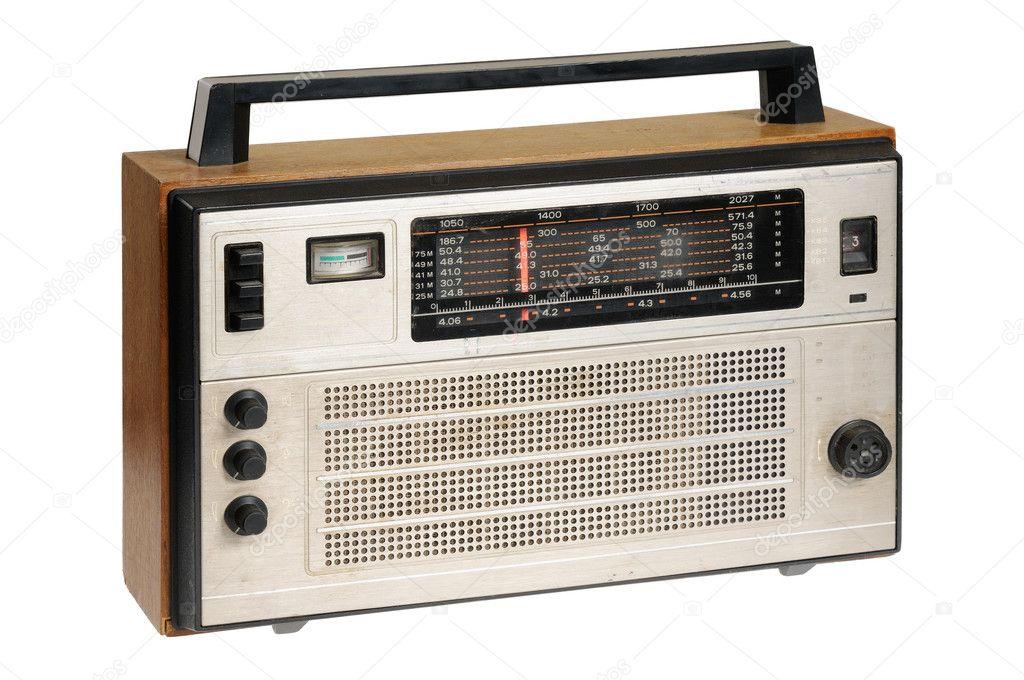 Altmodisch retro radio u stockfoto grauvision