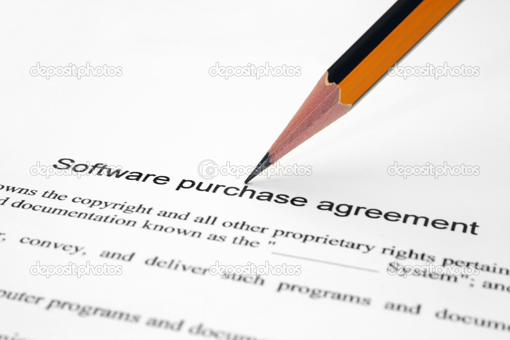 Software Purchase Agreement Stock Photo Alexskopje 7365851