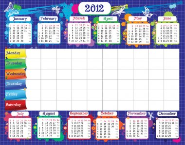 School timetable and calendar