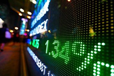 Stock market price digital display abstract stock vector
