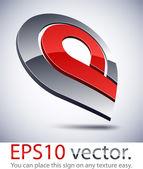 3D-s modern logó ikon