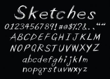 chalk sketch alphabet
