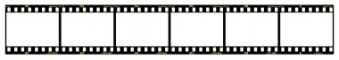 35mm slide film frames in filmstrip, with details and accurate dimension. stock vector