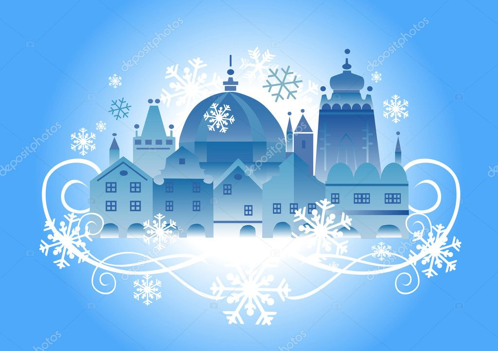 Christmas _town_background