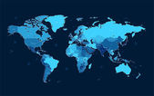 Fotografie Dark blue detailed World map