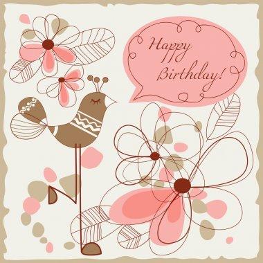 Happy birthday card for children clip art vector