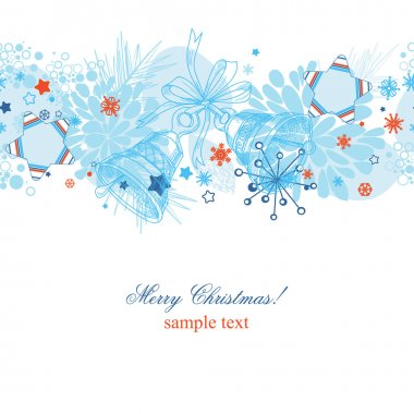 Christmas pattern over white