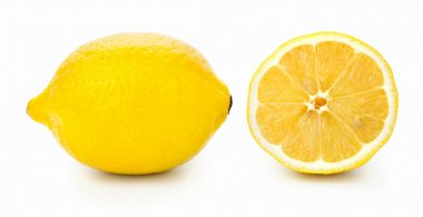 Fresh juicy lemon on white background, studio shot stock vector