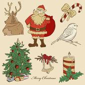 Von Hand gezeichneten Weihnachten set