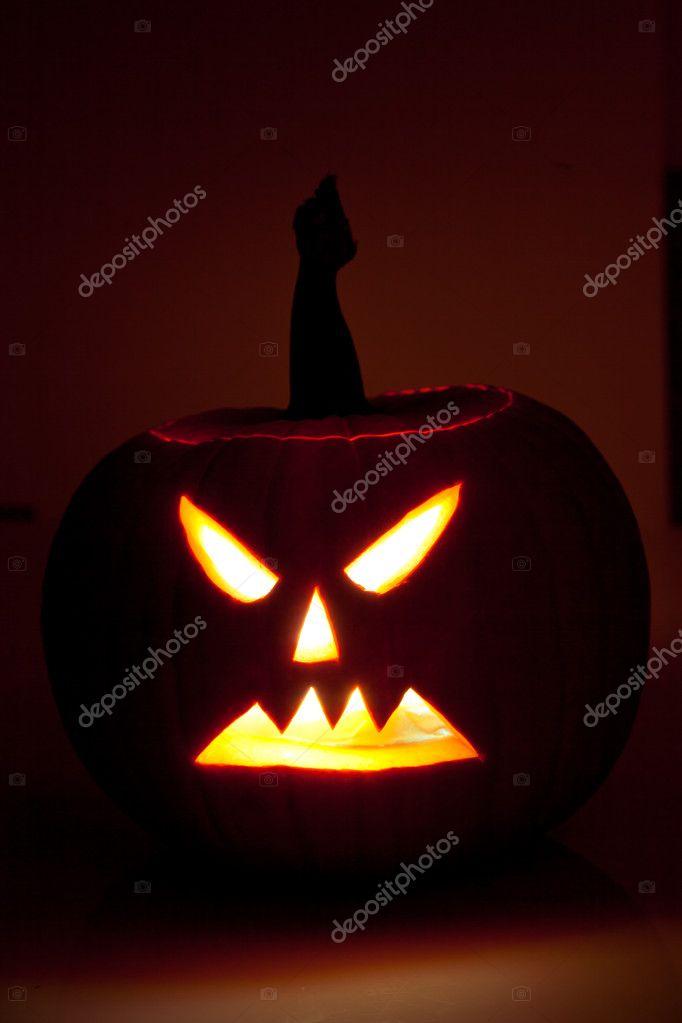 Halloween Scary Jack O Laterne Kürbis Gesichter Stockfoto