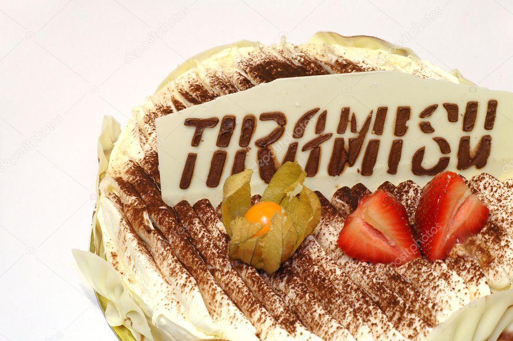 Birthday cake of Tiramisu Stock Photo titotito 7306728