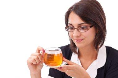 Female having cup of tea