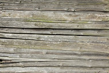 Old weathered screen of boards