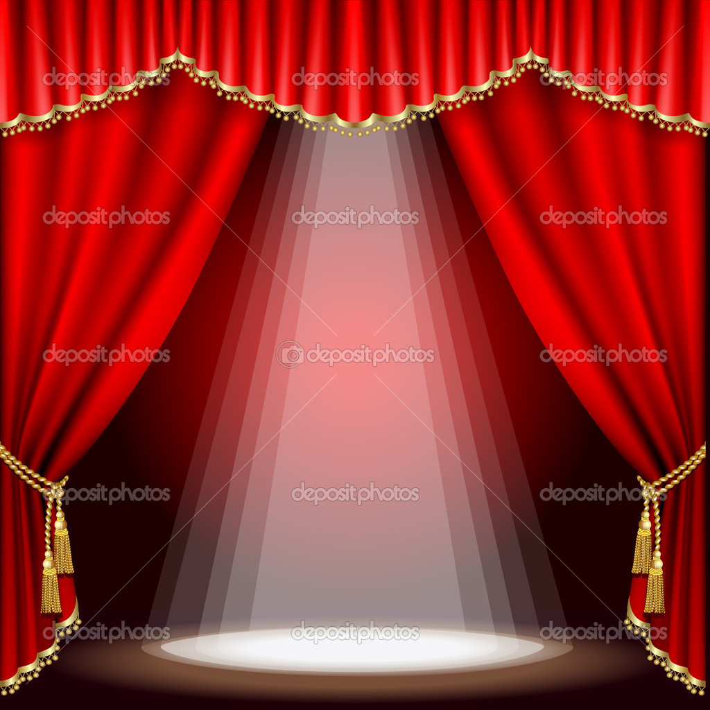 Theater Stage Mesh Stock Vector