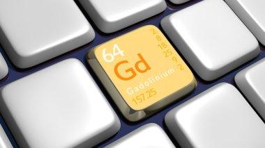 Keyboard (detail) with Gadolinium element