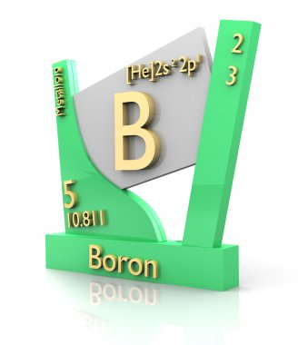 Boron form Periodic Table of Elements - V2