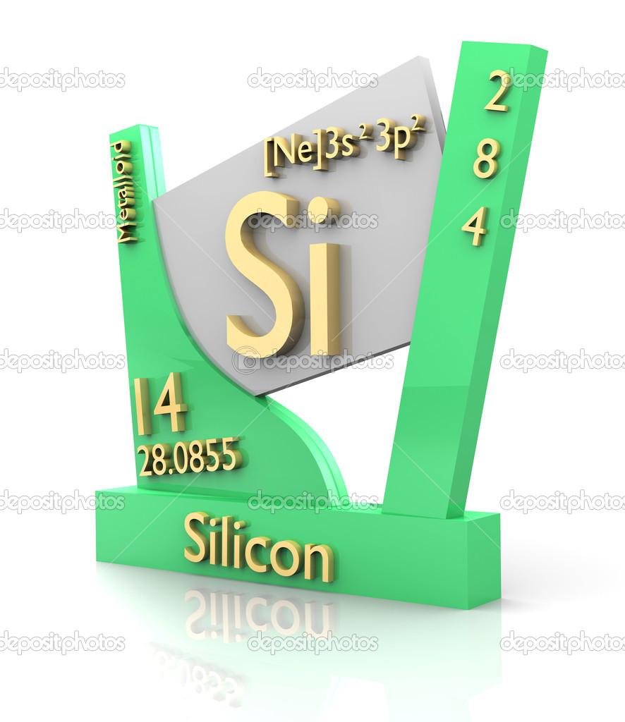 Silicon Form Periodic Table Of Elements V2 Stock Photo Fambros