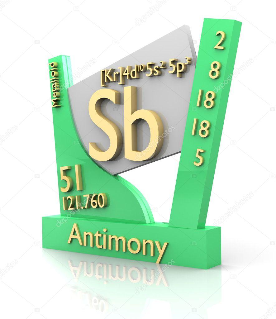 Antimony Form Periodic Table Of Elements V2 Stock Photo