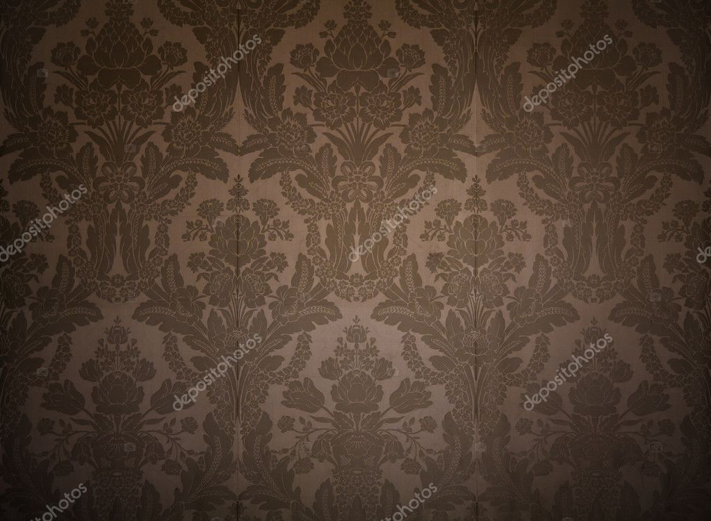 Vintage Wallpaper From Kings Palace With Classy Patterns Stock