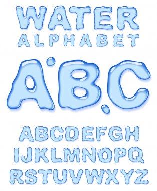 Water alphabet.