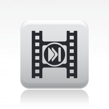illustration of video skip button