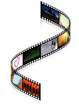 Colored Filmstrip - detailed illustration stock vector