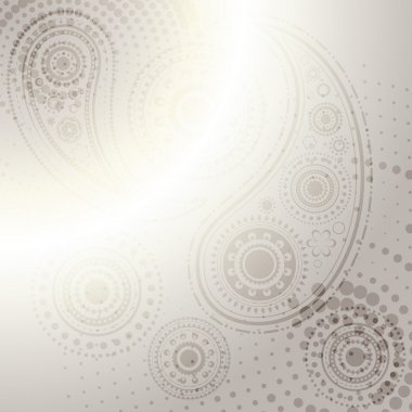 Vector indian paisley design background stock vector