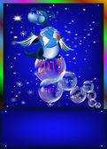 Tmavě modrý drak symbolem nové 2012 na východě kalendáře