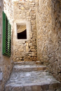 Narrow alley in Ulcinj - Montenegro