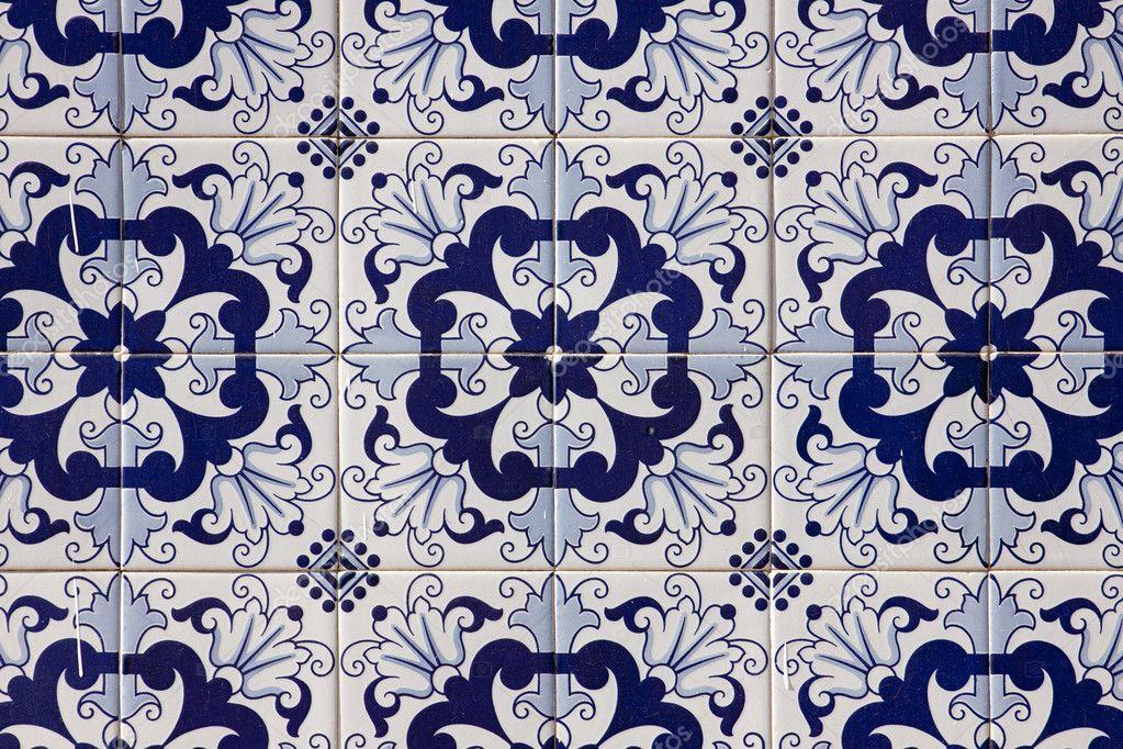 azulejo mosaico portugus u imagem stock