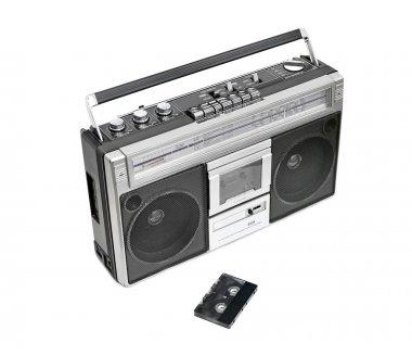 Vintage radio cassette recorder