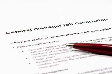 General manager job description