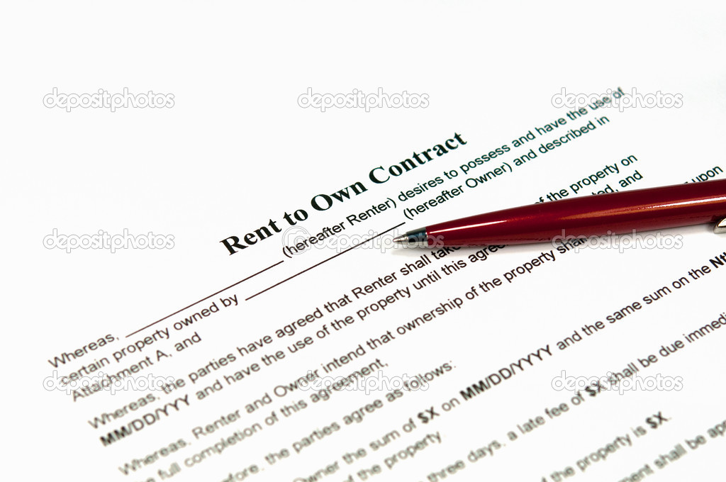 Rent To Own Contract — Stock Photo © Borojoint #7249912