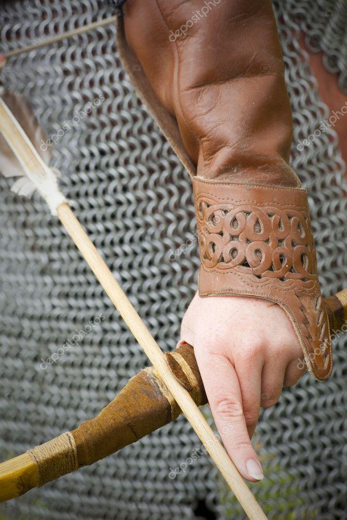 Bow and arrow/ medieval armor