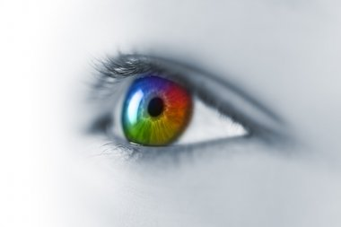Multicolored Young Eye Macro