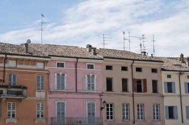 Panoramic view of Colorno. Emilia-Romagna. Italy.