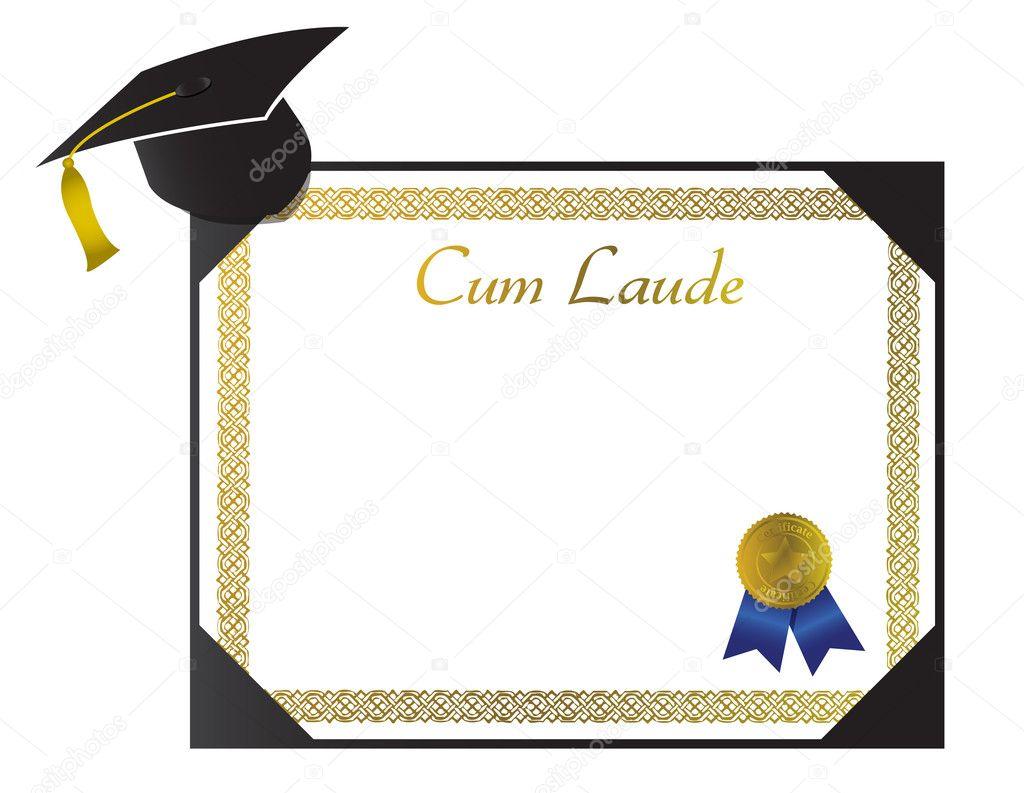diploma universitario cum laude con tapa y borla — Fotos de Stock ...