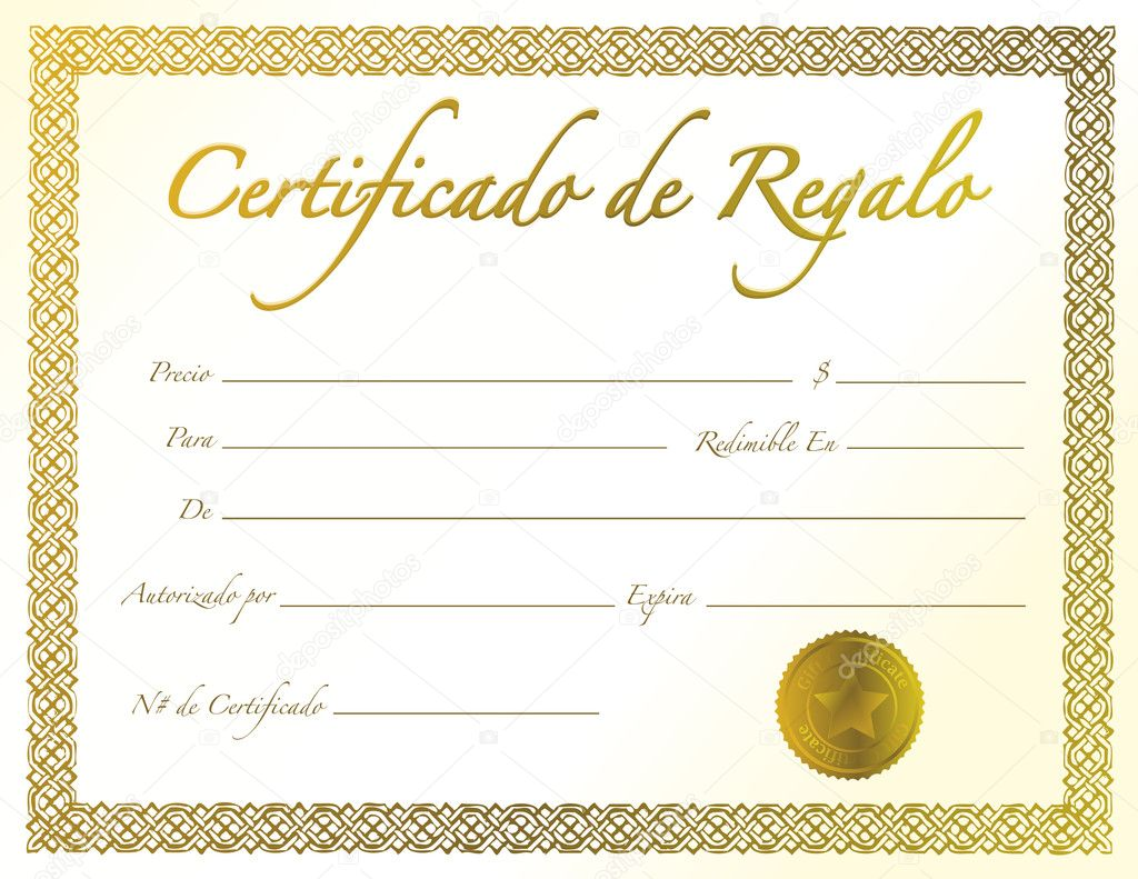Spanish gold gift certificate with golden seal and design border spanish gold gift certificate with golden seal and design border stock photo 1betcityfo Gallery