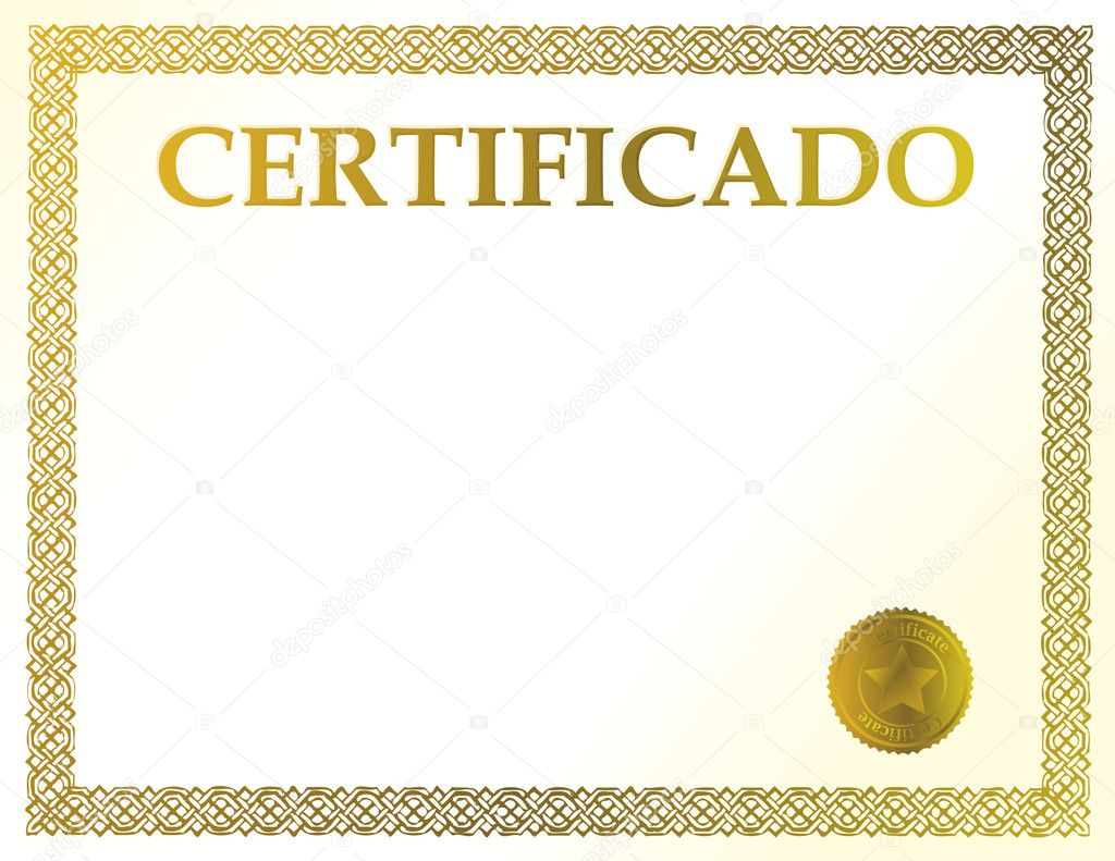 Spanish blank certificate ready to be filled with your individual spanish blank certificate ready to be filled with your individual text stock photo 1betcityfo Gallery