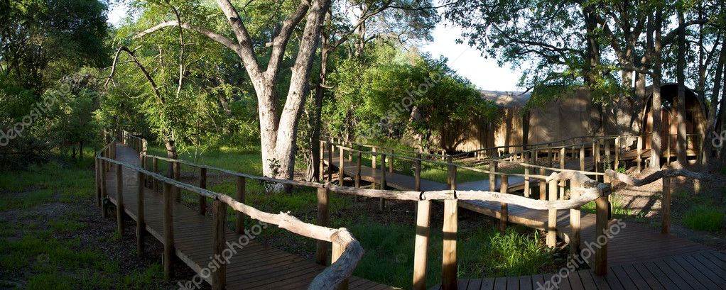 Lodge in Moremi Game Reserve
