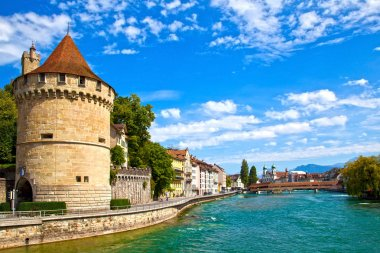 Reuss River in Lucerne, Switzerland