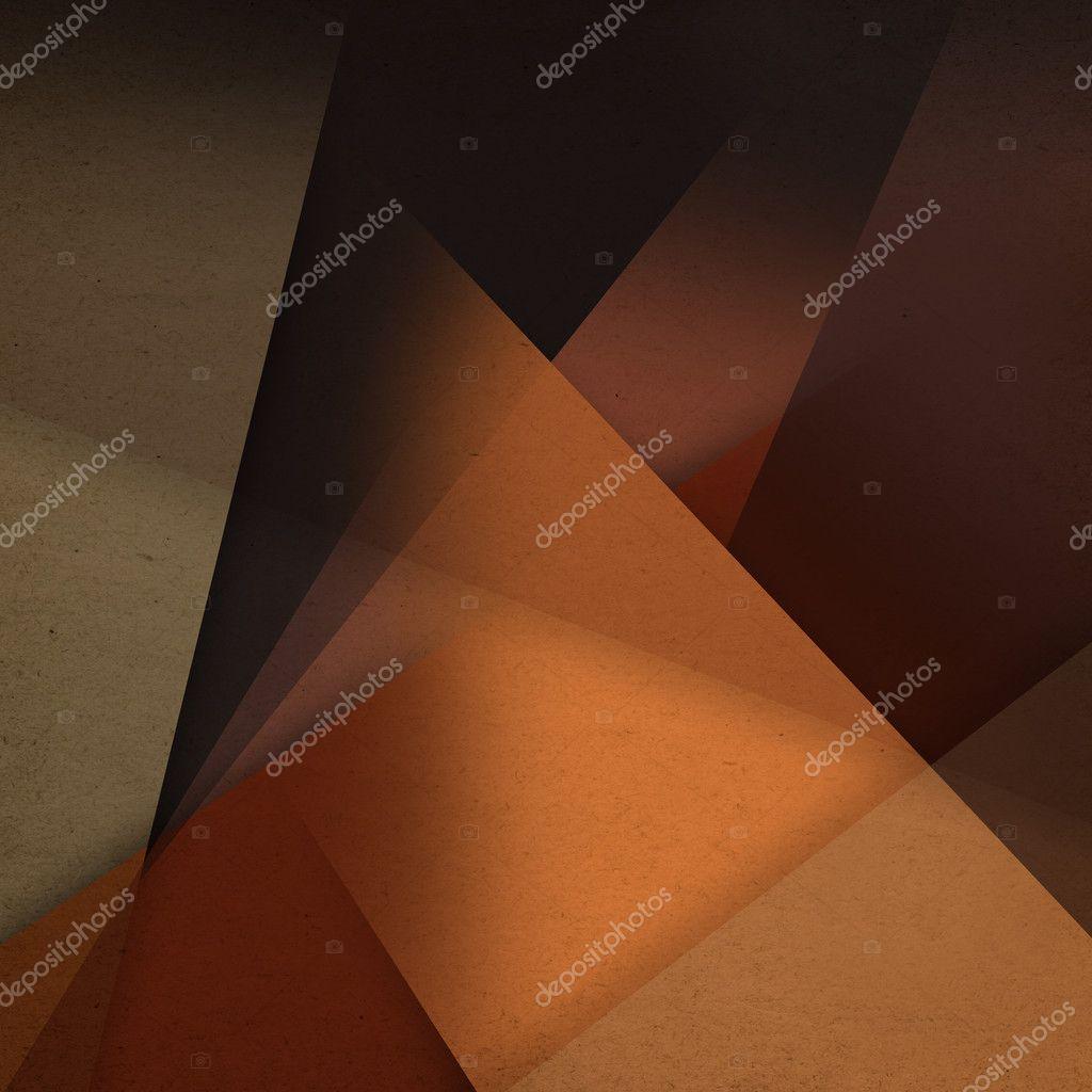 Brown Shapes Grunge Background