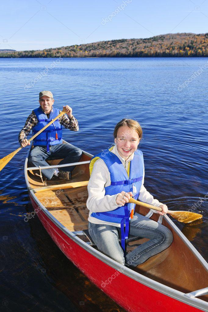 Фотообои Family canoe trip
